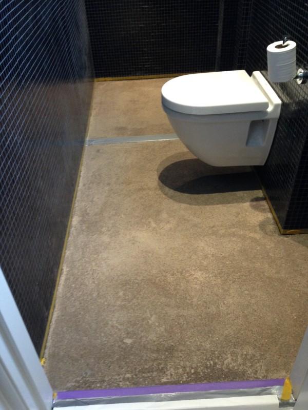 Pu gietvloer badkamer